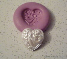 Detailed Love Heart Wedding Valentine Silicone Mould 3,Sugarcraft Fimo, Cup Cake