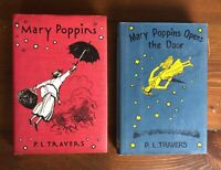 MARY POPPINS & MARY POPPINS OPENS THE DOOR P.L. Travers HB/DJ facsimile