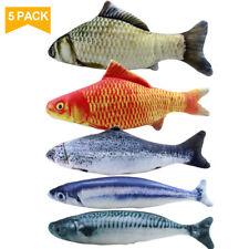 5PCS Catnip Fish Toys for Cat, 20 cm Cat Toys, Cat Fish Pillow, Cat Catnip Toys