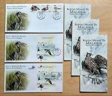 2005 Malaysia Migratory Birds Set of 3 fdc (Kuala Lumpur & Exhibition Cachet)