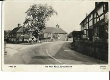 RP Postcard - Main Road, Fittleworth, Chichester, Sussex 1957.
