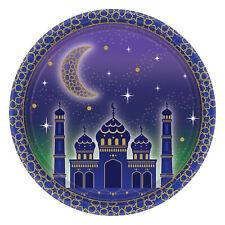 8 x Eid Ramadan Kareem Paper Plates 18cm Smaller Snack Size Party Tableware