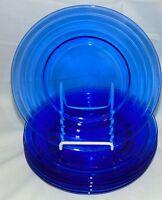 "6 Hazel Atlas MODERNTONE COBALT BLUE *7 3/4"" LUNCHEON PLATES*"