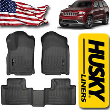 Floor Liners fit 2011-2015 Jeep Grand Cherokee & Durango Husky Mats Black Set