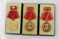 Orig. DDR MdI Polizei Medaillen für Treue Dienste 20, 25 und 30 Jahre