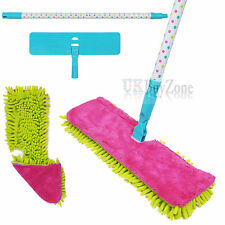 More details for double sided microfibre mop cleaner sweeper wooden floor / cloth pad refill