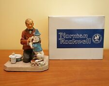 Norman Rockwell's While The Audience Waits 1981 Figurine in box with certificate