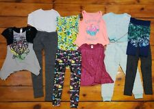 Lot Girls Clothing Size 7/8 Pre-Owned Multi Brand 11 Peices Tops Leggings Dress
