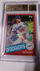 2020 Topps RC ⭐ Dustin May Red Refractor Auto #1/5 BGS Autograph Dodgers Rookie