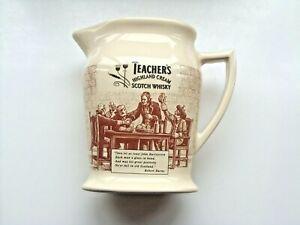 teachers highland cream scotch whisky water jug made by seton pottery VGC