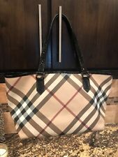 Burberry Nova Check Tote With Matching Wristlet - Pre Owned