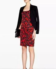 MOSCHINO UK8 US6 IT40 BLACK RED LEOPARD PRINT DRESS