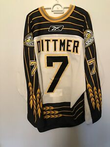 Brandon Wheat Kings Game Worn Jersey Dittmer WHL Jersey Authentic Reebok 54