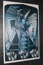 Vintage Satty ZEITGEIST poster Psychedelic RARE Original Mint Condition NOS