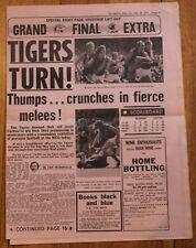 1973 Special 8 page souvenir lift out Grand Final Edition Richmond Vs Carlton