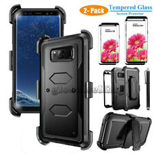 Samsung Galaxy Note 8 / S8 / S8 Plus Hybrid Case w/ Screen Protector and Holster