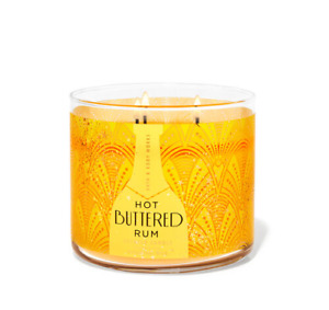 ☆HOT BUTTERED RUM☆BATH & BODY WORKS 3 WICK CANDLE 14.5 OZ☆FREE SHIPPING