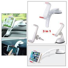 Support Smartphone 3 en 1 Pare-brise Tableau de bord Voiture Sortie Aération /WH