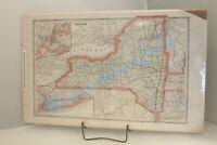 ORIGINAL ANTIQUE MAP 1884 US NEW YORK GEORGE CRAM ENGRAVER PUBLISHER OVERALL SIZ