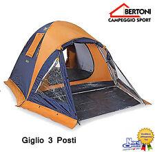 """TENDA CAMPEGGIO Igloo BERTONI - doppio telo  modello"""" GIGLIO 3 """"  3 P0STI"""