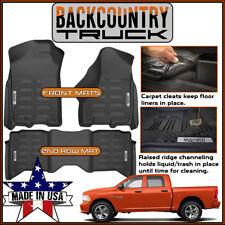 NEW! BackCountryTruck All Weather Liners Floor Mats 2009-2018 Dodge Ram Crew Cab
