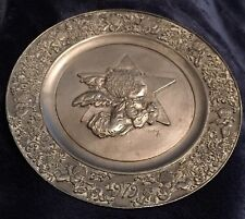 1979 Little Angel Signed Maey Hamilton Little Gallery Pewter Plate