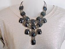 SALE Black and Silver Statement Necklace was $18 NOW $14