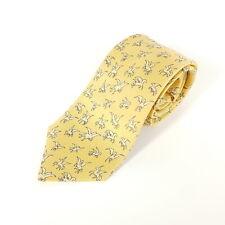 Vintage Hermès Krawatte Orange Pegasus 7387 PA Seide 144 cm