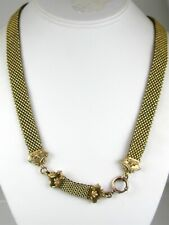 "Antique Victorian Gold Filled Mesh Chain Ladies Necklace 45.6g 23""L"