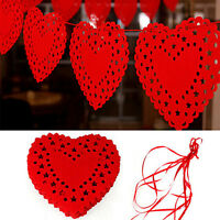 Heart Nonwovens Fabric Flag Party Garland Decor Banner Bunting Wedding AG