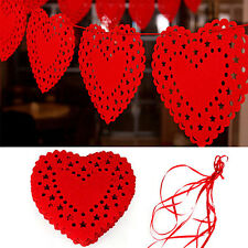 3m Heart Nonwovens Fabric Flag Party Garland Decor Banner Bunting Wedding HC