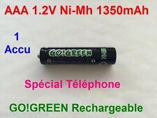 Pile AAA Rechargeables 1350mAh 1.2V NIMH GO! R3 R03 LR3 LR03 Batterie Accu