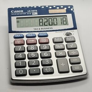 Canon LS100TS 10-Digit Calculator  (5936A028) Solar and Battery Pre-owned