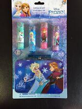 Disney Frozen 5 Piece Kids Lip Balm Set Plus Bonus Tin Storage