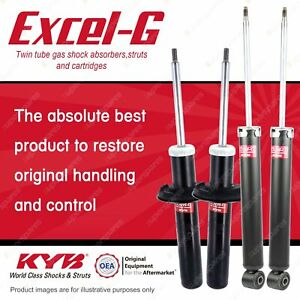 Front + Rear KYB EXCEL-G Shock Absorbers for AUDI A5 8T I4 DV6 V6 DT4 FWD AWD