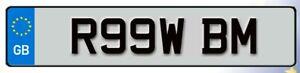 R99 WBM Cherished Reg Number Plate RAW BMW BM FAST TURBO 1 2 3 4 5 6 7 SERIES