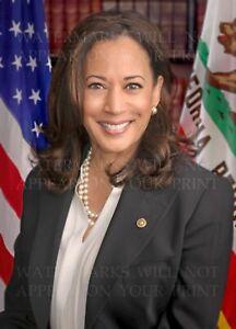 Kamala Harris US Senate official 2017 portrait, 5x7 real photo print or digital
