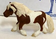 New Retired Schleich Horse 13297 Shetland Pony Mare Trotting Chestnut Pinto NWOT