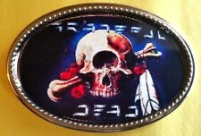 GRATEFUL DEAD Epoxy PHOTO MUSIC BELT BUCKLE