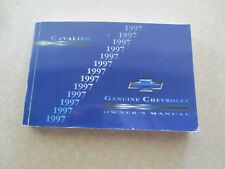 1997 Chevrolet Cavalier owners manual - Chev