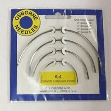 C.S. Osborne K-4 Curved Square Point Needles Upholstery Supplies