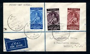 Egypt - 1937 Abolition of Capitulations Airmail First Day Cover, Cairo Postmarks