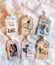 Set of 6 Hang Tags~Fairy Garden~Gift Tags~Scrapbooking~Card Making~#2R