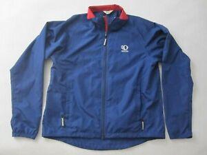 Pearl Izumi Windbreaker Men's Full Zip Up Cycling Jacket Large Blue B8