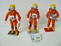 "CUSTOM SPACE 1999 (3) Diff 3.75"" ACTION FIGURES Mattel Eagle 1 Weapons Helmets"