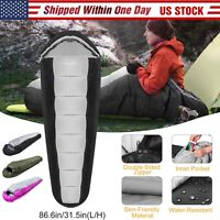 4 Season Mummy Sleeping Bag Warmly -5-10 ℃ Outdoor Camping Hiking w Carrying Bag