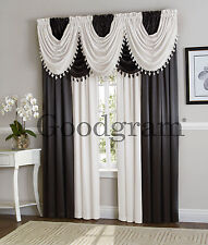 GoodGram Hyatt Curtains & Valances - Assorted Colors & Styles (New Colors)