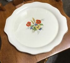 Vintage The Harker Pottery Co. USA Poppy/wheat Platter Plate Charger