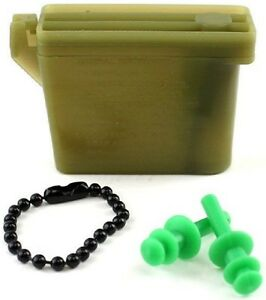 NEW SIZE SMALL Military Issue Ear Plugs W/ Storage Case Tactical Earplugs 26db