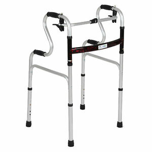 Deluxe Duo Height Adjustable Lightweight Transportable Folding Walking Frame